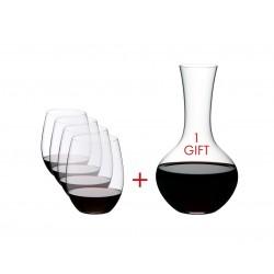 Набор для вина O RIEDEL _4 бокала для Cabernet O + Decanter, 5 шт